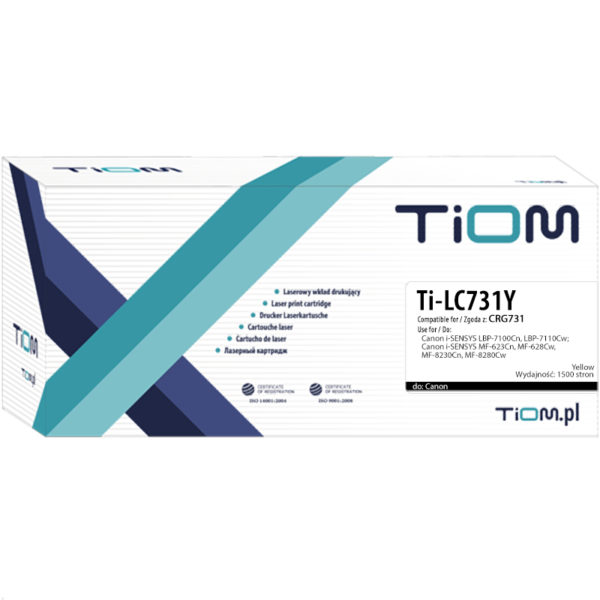 Toner zamiennik Canon 731 | CRG731Y | 6269B002