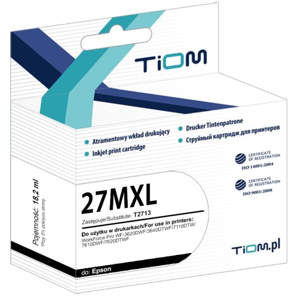 Tusz zamiennik Epson 27XL T2713 C13T27134012 Magenta
