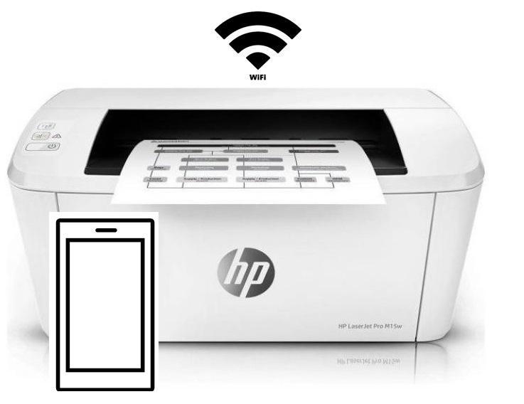 Drukarka HP LaserJet Pro M15W wifi